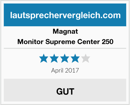 Magnat Monitor Supreme Center 250 Test