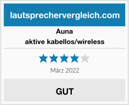 Auna aktive kabellos/wireless Test