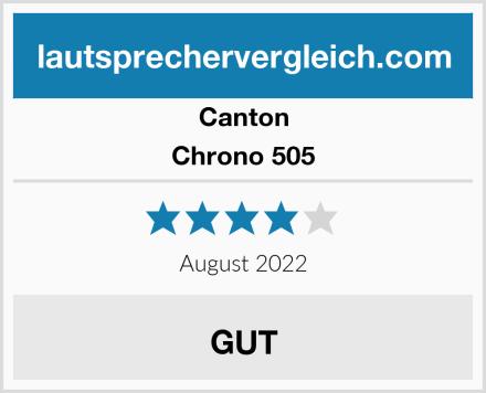 Canton Chrono 505 Test