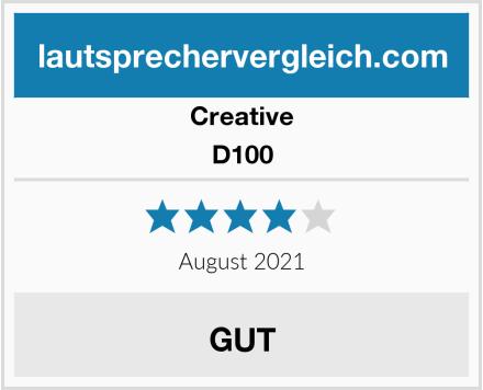 Creative D100 Test