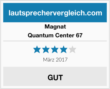Magnat Quantum Center 67 Test