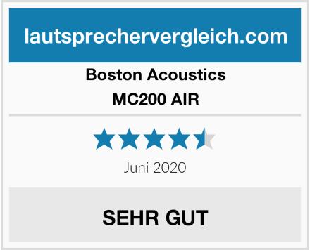 Boston Acoustics  MC200 AIR Test