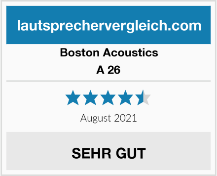 Boston Acoustics A 26 Test
