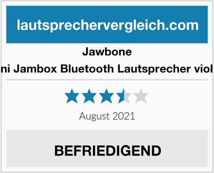 Jawbone Mini Jambox Bluetooth Lautsprecher violett Test