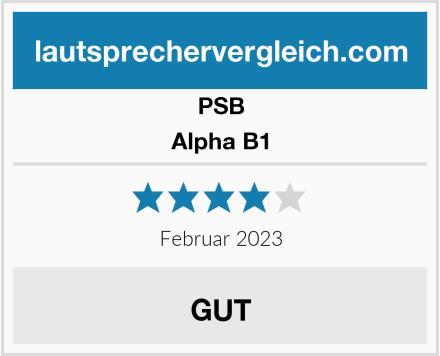 PSB Alpha B1 Test