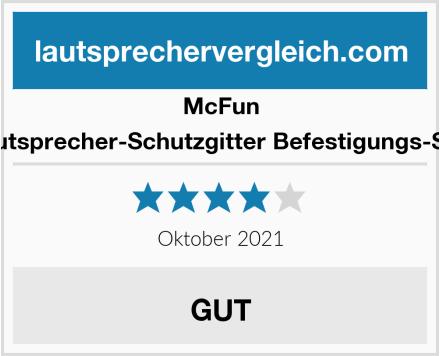 McFun Lautsprecher-Schutzgitter Befestigungs-Set  Test