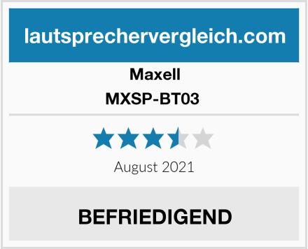 Maxell MXSP-BT03  Test
