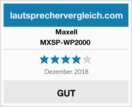 Maxell MXSP-WP2000  Test