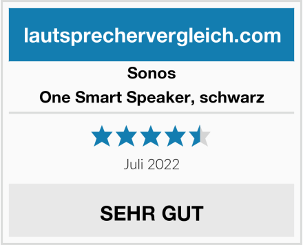 Sonos One Smart Speaker, schwarz Test