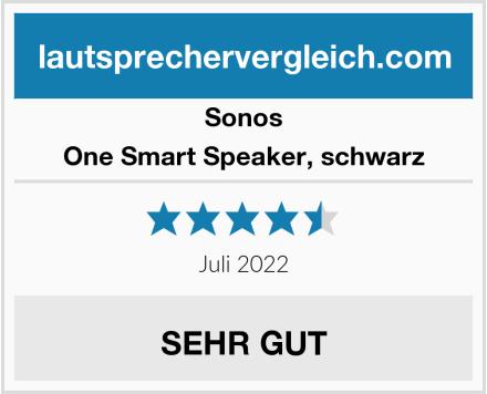 Sonos One Smart Speaker, schwarz Test