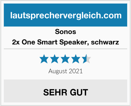Sonos 2x One Smart Speaker, schwarz Test