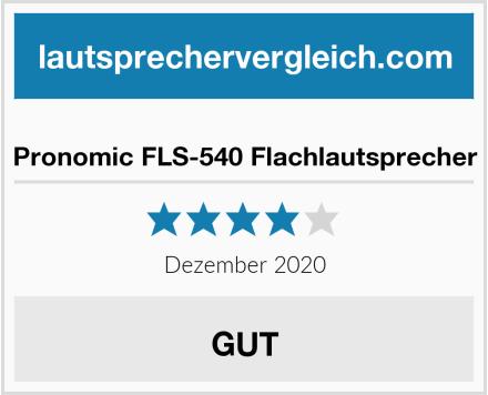 Pronomic FLS-540 Flachlautsprecher Test