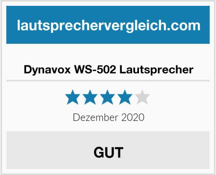 Dynavox WS-502 Lautsprecher Test