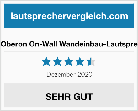 Dali Oberon On-Wall Wandeinbau-Lautsprecher Test