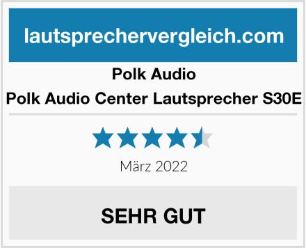 Polk Audio Polk Audio Center Lautsprecher S30E Test