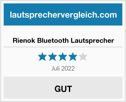 Rienok Bluetooth Lautsprecher Test