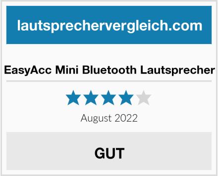 EasyAcc Mini Bluetooth Lautsprecher Test