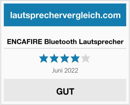 ENCAFIRE Bluetooth Lautsprecher Test