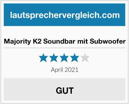 Majority K2 Soundbar mit Subwoofer Test