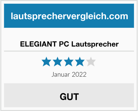 ELEGIANT PC Lautsprecher Test