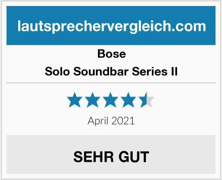 Bose Solo Soundbar Series II Test