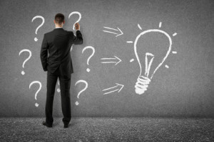 businessman drawing on wall - problem solving ideas