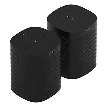 Sonos 2x One Smart Speaker, schwarz