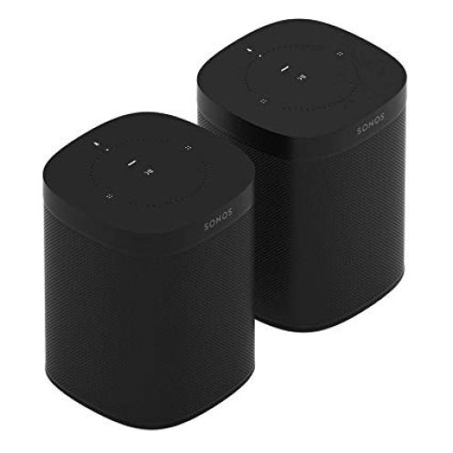 Sonos 2x One Smart Speaker, schwarz